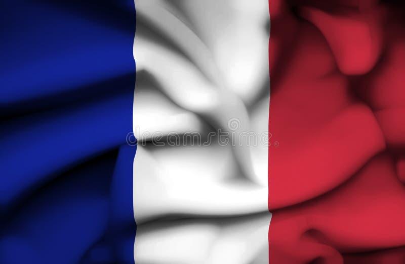 Bandera que agita de Francia libre illustration