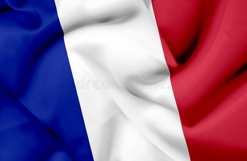 Bandera que agita de Francia ilustración del vector