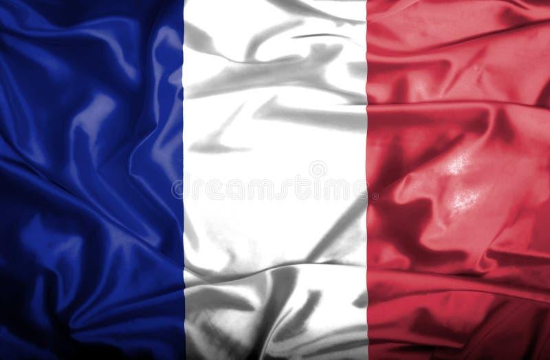 Bandera que agita de Francia stock de ilustración