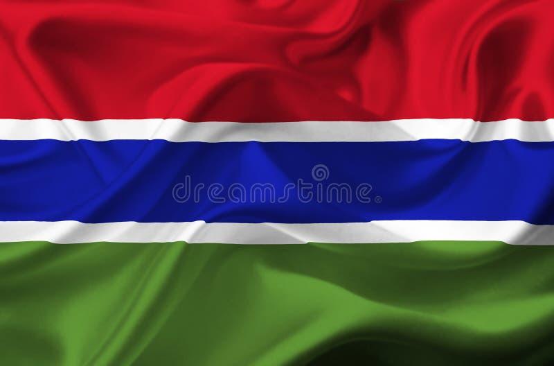 Bandera que agita de Gambia libre illustration