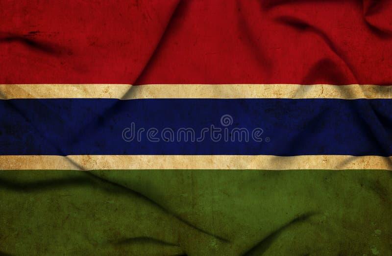 Bandera que agita de Gambia ilustración del vector