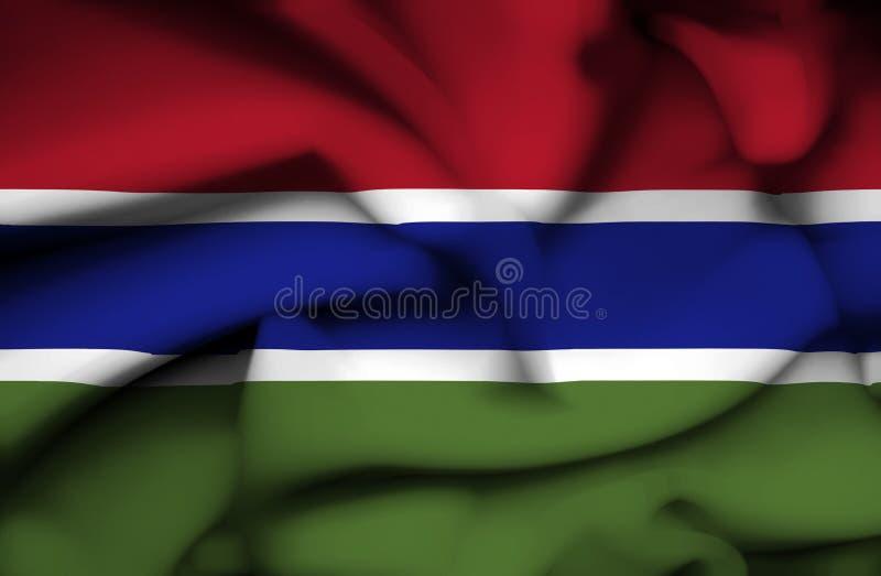 Bandera que agita de Gambia stock de ilustración