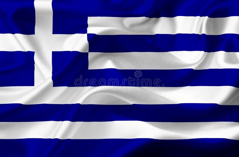Bandera que agita de Grecia libre illustration