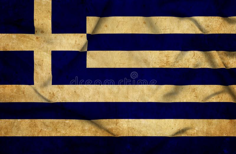 Bandera que agita de Grecia stock de ilustración