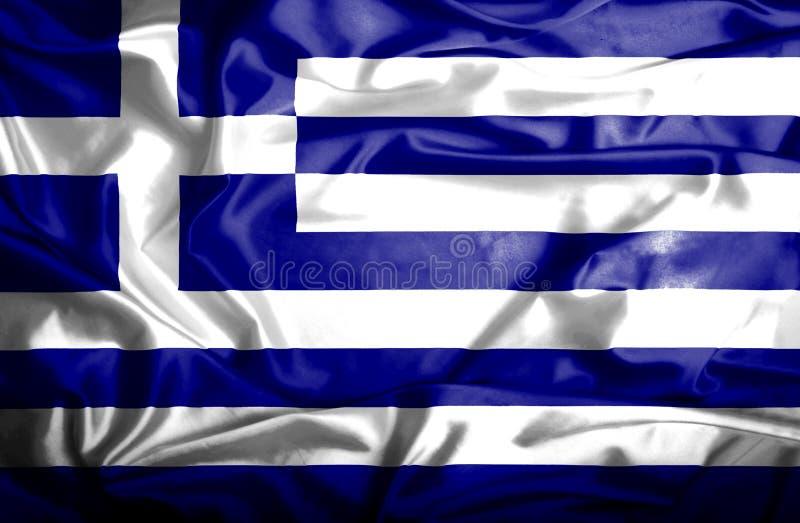 Bandera que agita de Grecia ilustración del vector