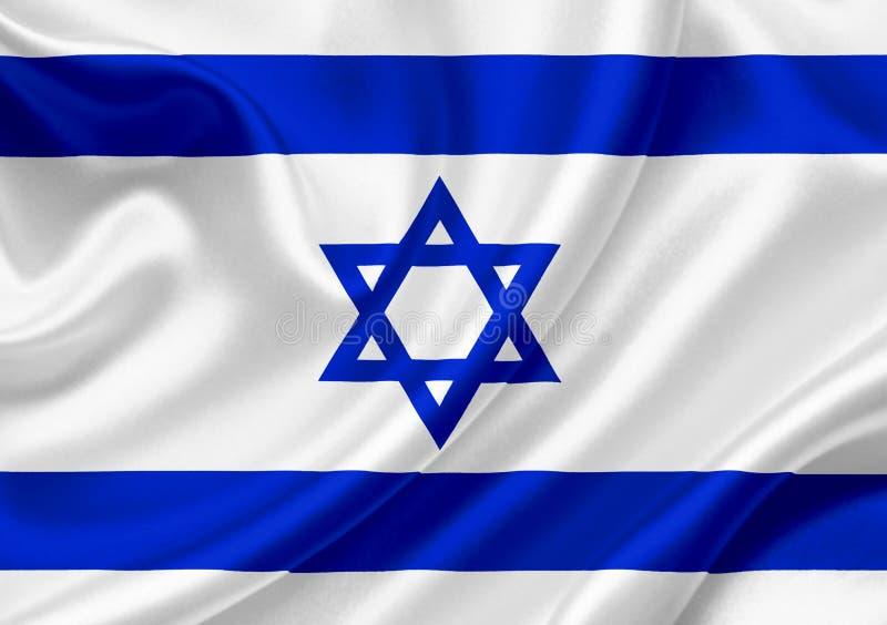 Bandera que agita de Israel libre illustration
