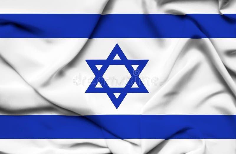 Bandera que agita de Israel stock de ilustración