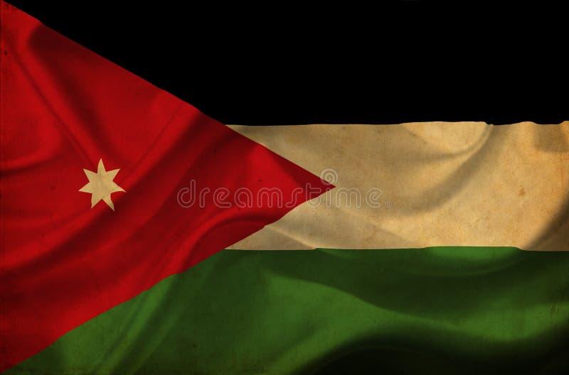 Bandera que agita de Jordania ilustración del vector