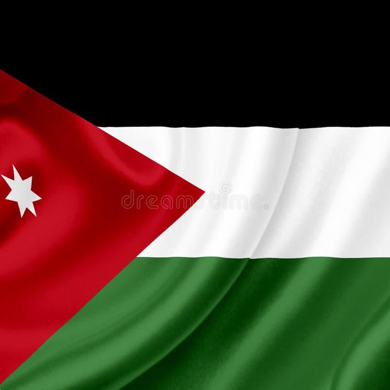 Bandera que agita de Jordania libre illustration