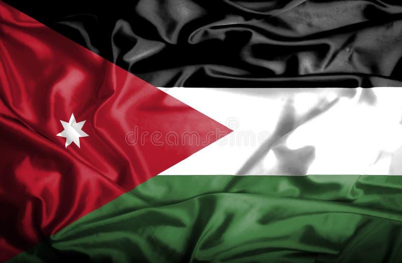 Bandera que agita de Jordania stock de ilustración