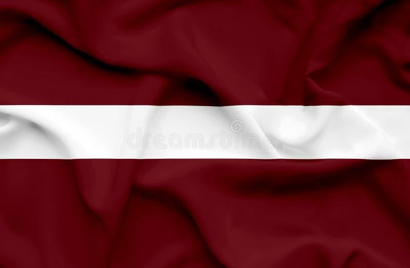 Bandera que agita de Letonia libre illustration