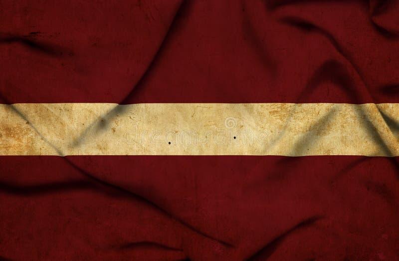 Bandera que agita de Letonia stock de ilustración