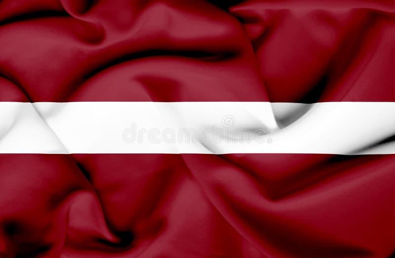 Bandera que agita de Letonia ilustración del vector