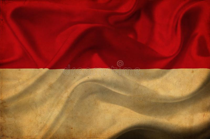 Bandera que agita de M?naco stock de ilustración