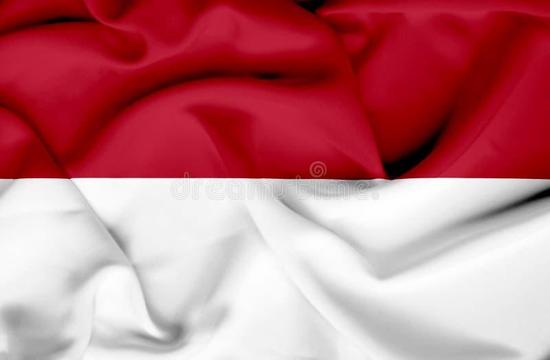 Bandera que agita de M?naco ilustración del vector