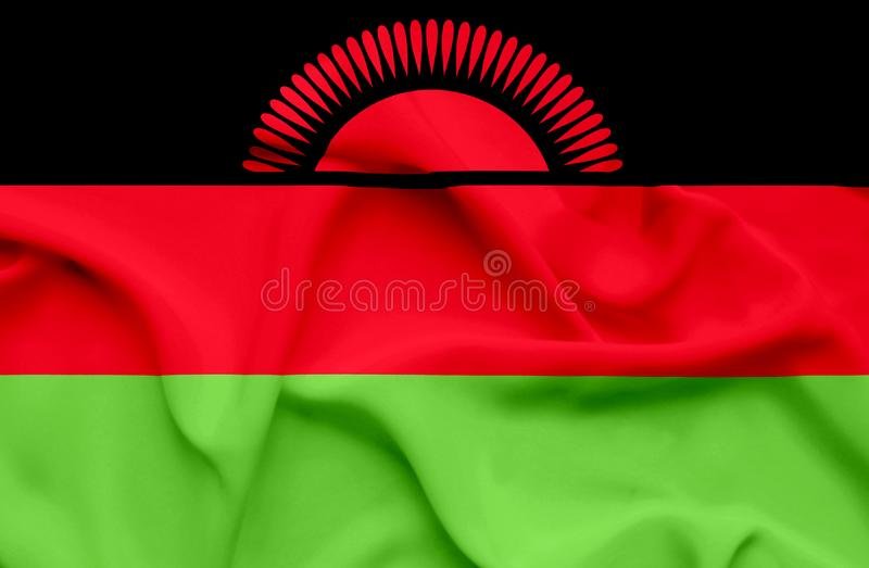 Bandera que agita de Malawi libre illustration