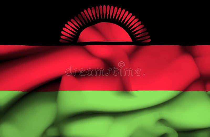 Bandera que agita de Malawi ilustración del vector