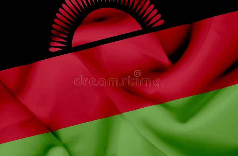 Bandera que agita de Malawi stock de ilustración