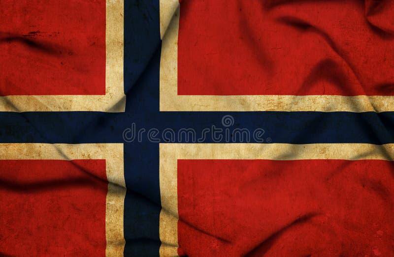 Bandera que agita de Noruega stock de ilustración