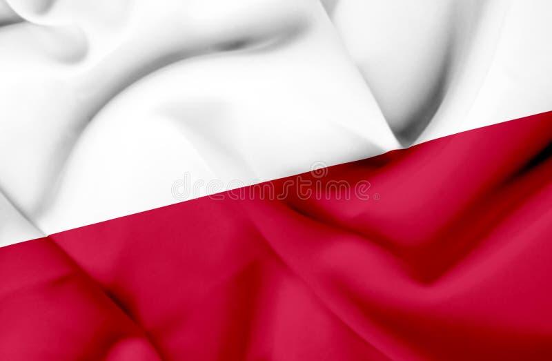 Bandera que agita de Polonia stock de ilustración