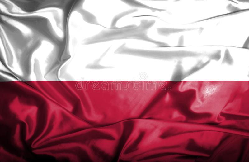 Bandera que agita de Polonia libre illustration