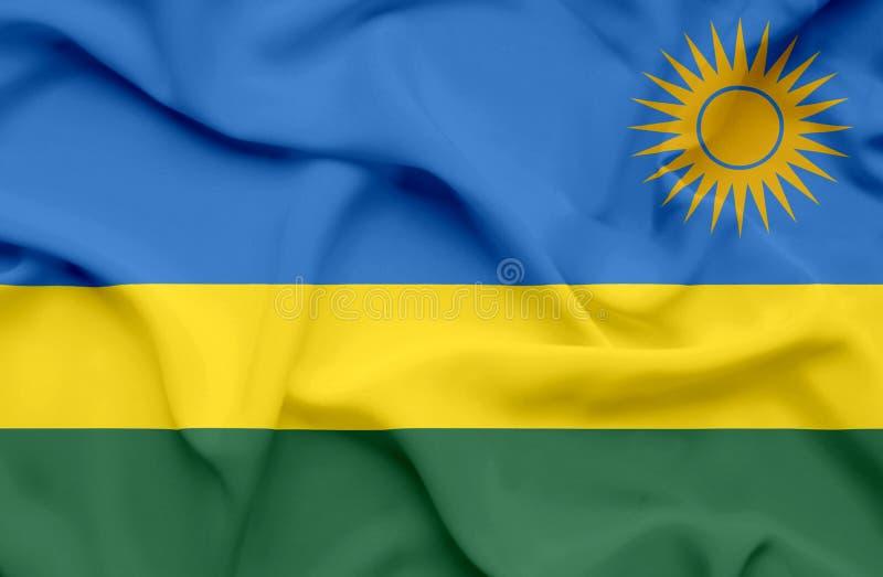 Bandera que agita de Rwanda fotos de archivo libres de regalías