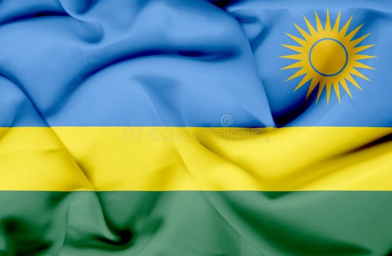Bandera que agita de Rwanda libre illustration