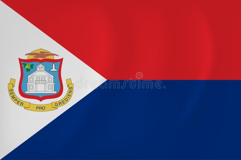 Bandera que agita de Sint Maarten stock de ilustración