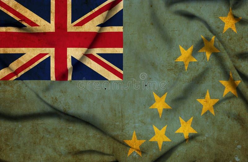 Bandera que agita de Tuvalu stock de ilustración