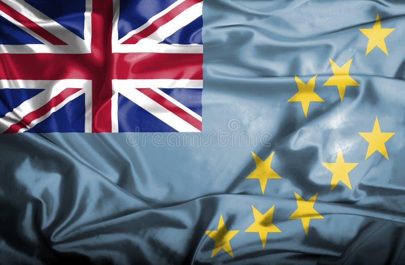 Bandera que agita de Tuvalu libre illustration