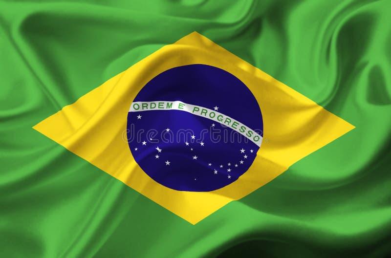 Bandera que agita del Brasil stock de ilustración