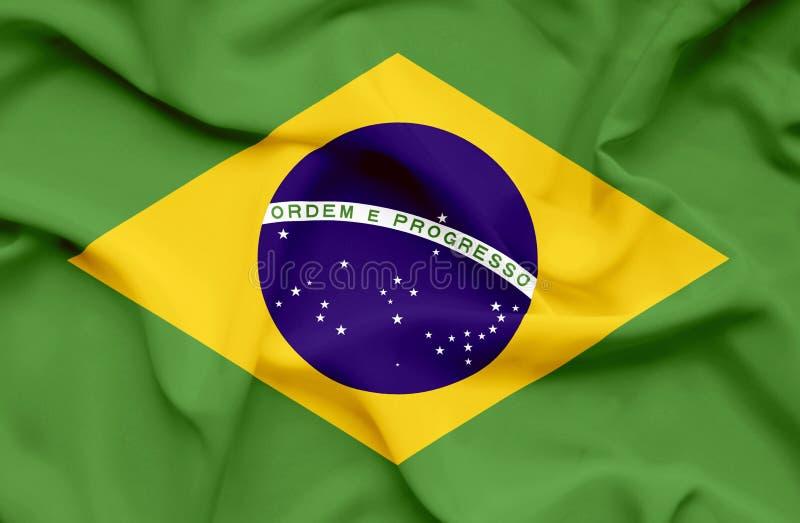 Bandera que agita del Brasil libre illustration