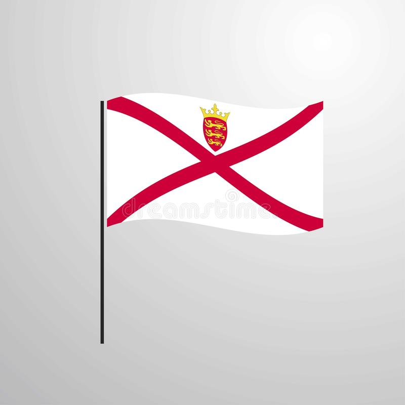 Bandera que agita del jersey libre illustration