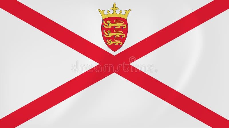 Bandera que agita del jersey stock de ilustración