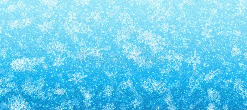 Bandera que nieva stock de ilustración
