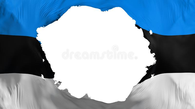 Bandera quebrada de Estonia ilustración del vector
