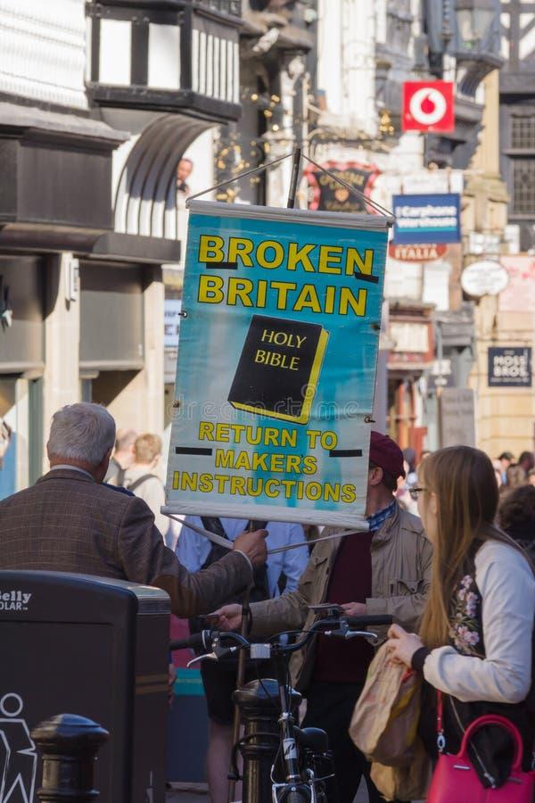 Bandera quebrada de Gran Bretaña imagenes de archivo