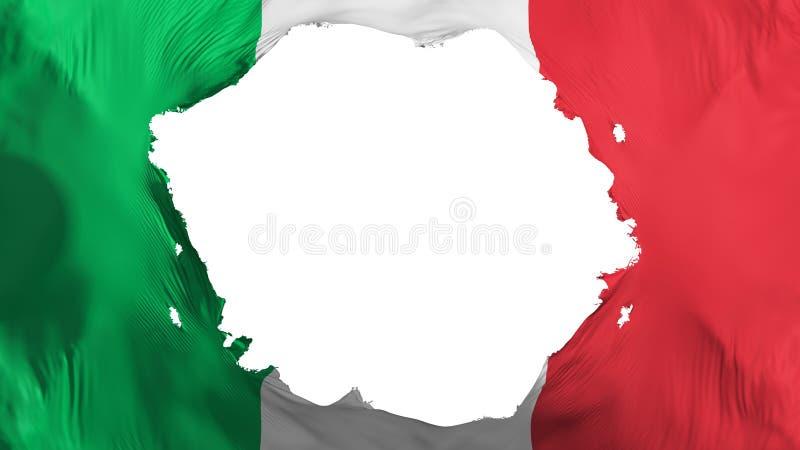 Bandera quebrada de Italia stock de ilustración
