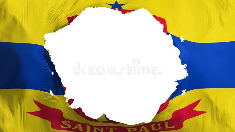 Bandera quebrada del capital de Saint Paul ilustración del vector