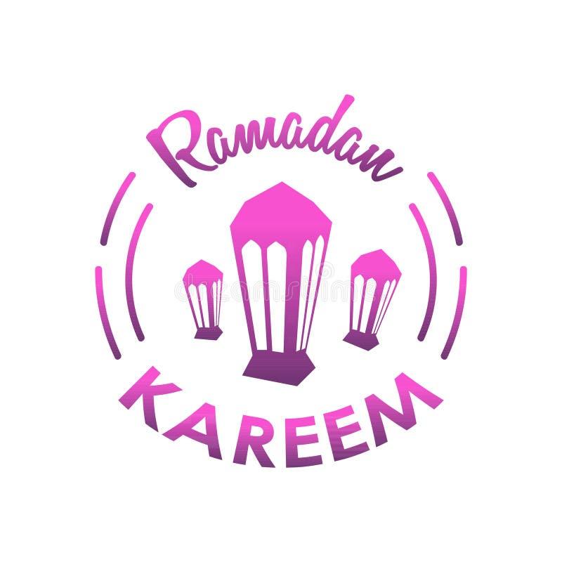 Bandera Ramadan Kareem stock de ilustración