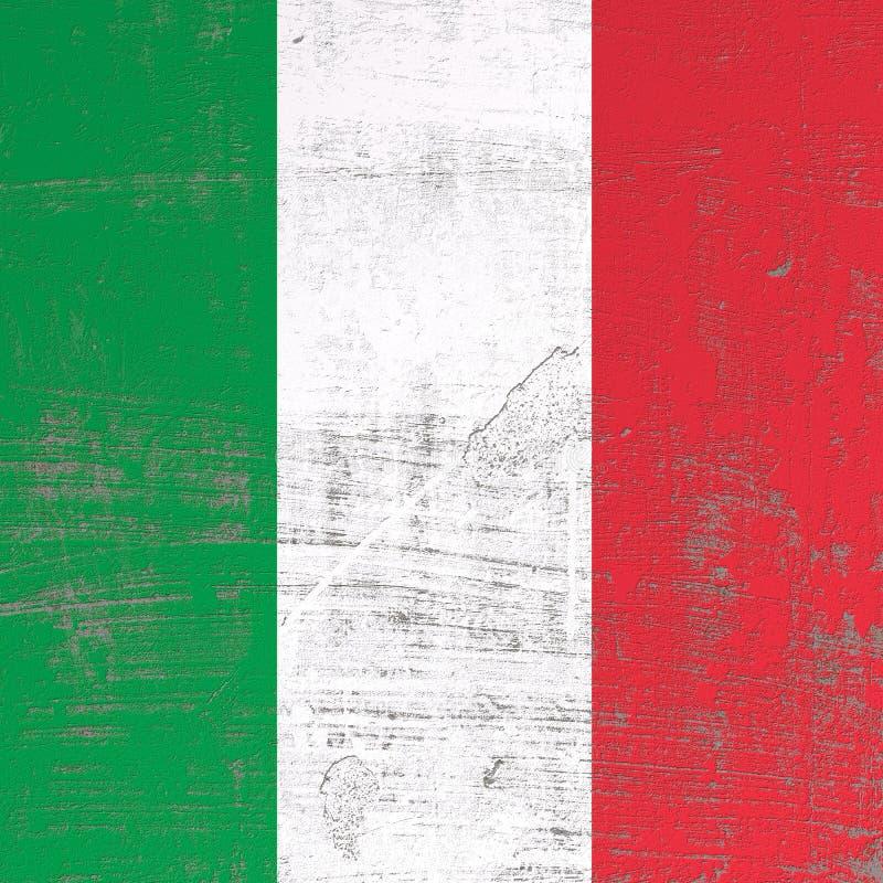 Bandera rasguñada de Italia stock de ilustración