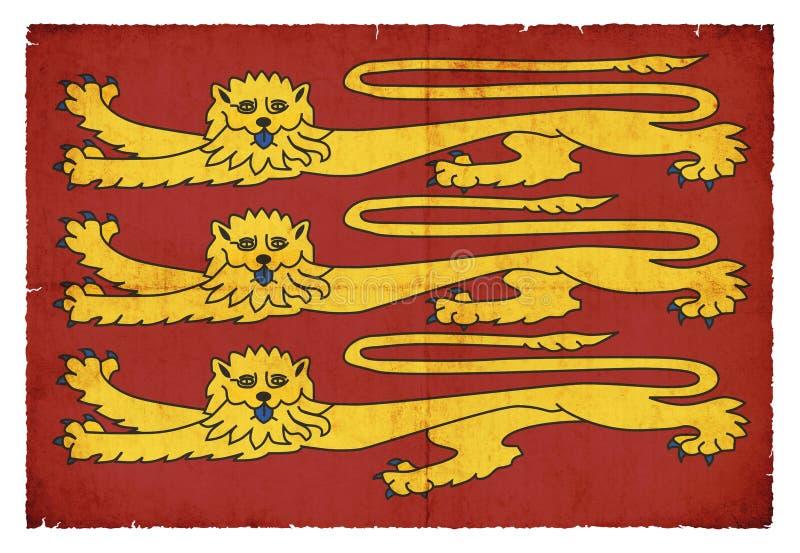 Bandera real histórica de rey Richard I Inglaterra ilustración del vector