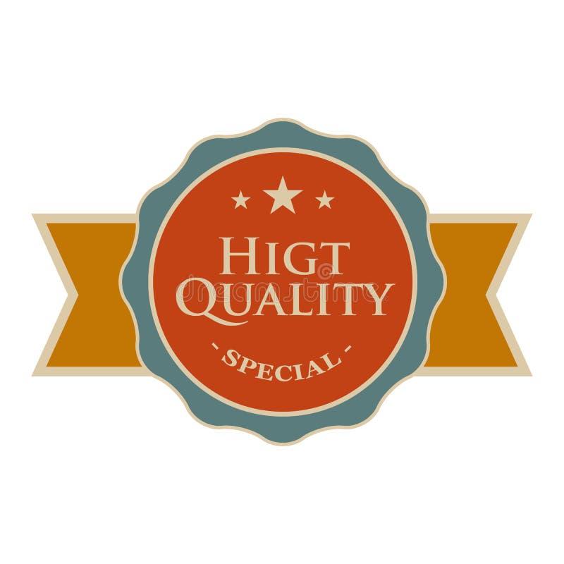 Bandera redonda de alta calidad del vintage libre illustration