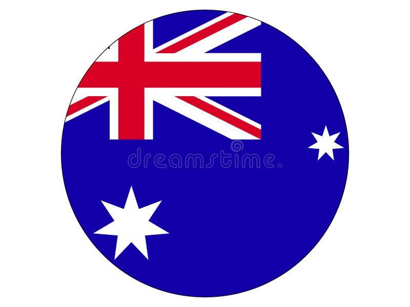 Bandera redonda de Australia stock de ilustración