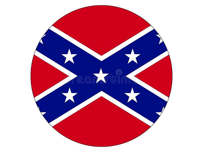 Bandera redonda de la confederación ilustración del vector