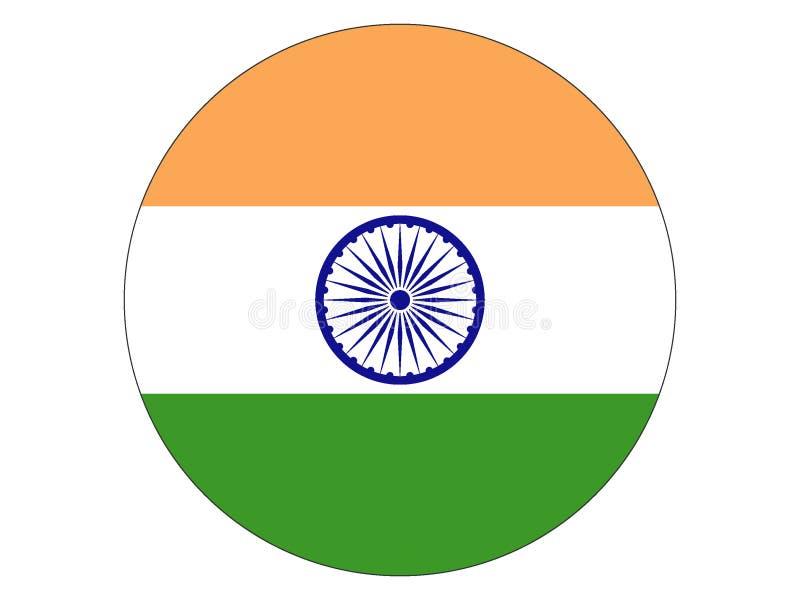 Bandera redonda de la India libre illustration