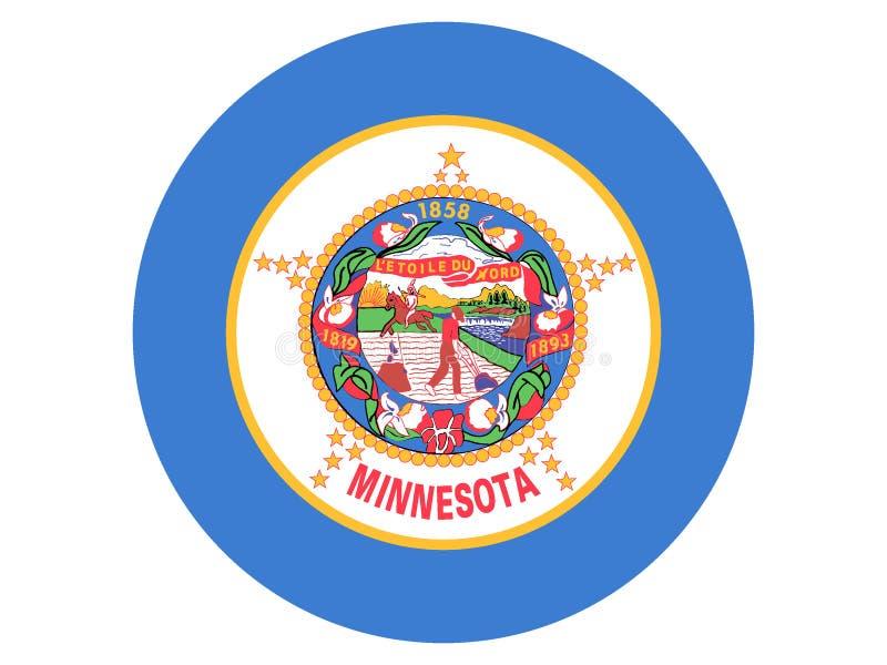 Bandera redonda del estado de los E.E.U.U. de Minnesota libre illustration