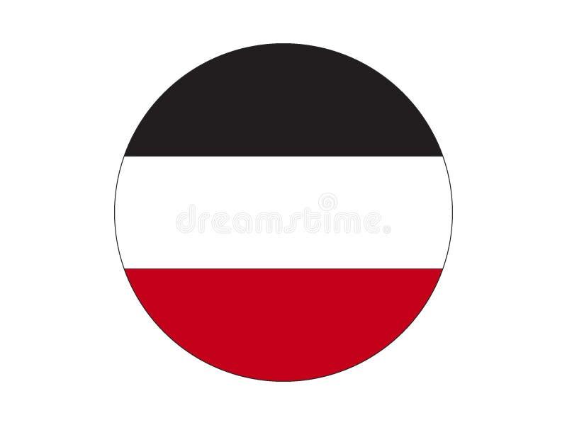 Bandera redonda del imperio alemán stock de ilustración