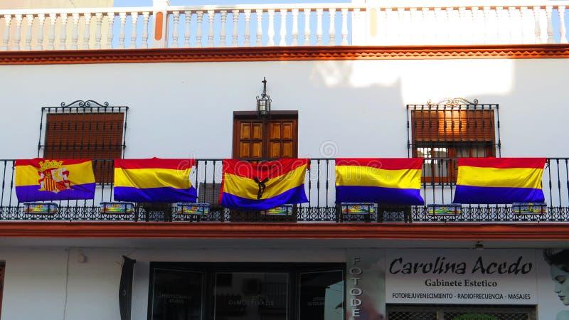 Bandera republicana española fotografía de archivo