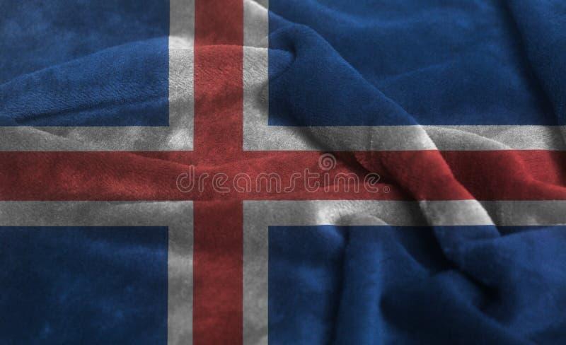 Bandera rizada de Islandia que agita fotografía de archivo libre de regalías